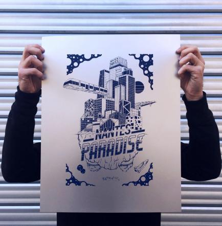 HAMETISM - Illustrateur nantais indépendant, passionné d'architecture et du fait main.