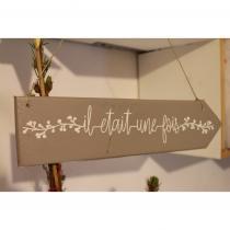 """In The Wood For Love - Pancarte en bois de palette """"il était une fois"""" - Panneau directionnel"""