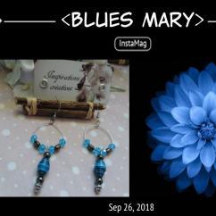 Catherine LEDOUX - Boucles d'oreilles Blues Mary - Boucles d'oreille - Acier