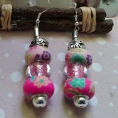 """Catherine LEDOUX - Boucles d'oreilles charms """"Fleurs bonbons"""" - Boucles d'oreille - Acier"""