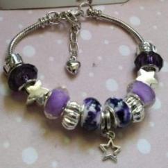 """Catherine LEDOUX - Bracelet charms """" La nuit des étoiles """" - Bracelet - Acier"""