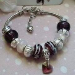 """Catherine LEDOUX - Bracelet charms """"vous avez dit prune"""" - Bracelet - Acier"""