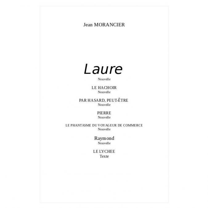 Jean-morancier - Premières nouvelles - e-book en pdf