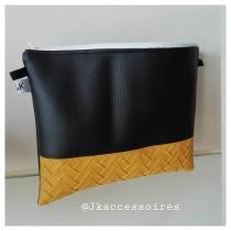 J&K - Pochette noir et jaune - pochette, sac à main