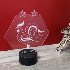 JNB-Maker Artisan Laseriste - Lampe Champions du monde - Lampe de table - 1ampoule(s)