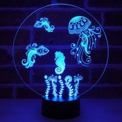 JNB-Maker Artisan Laseriste - Lampe Led Aquarium - Lampe de table - 4668ampoule(s)