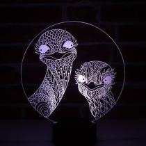JNB-Maker Artisan Laseriste - Lampe Led Autruches - Lampe de table - 4668ampoule(s)