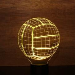 JNB-Maker Artisan Laseriste - Lampe Led Ballon de Volley - Lampe de table - 4668ampoule(s)