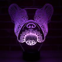 JNB-Maker Artisan Laseriste - Lampe Led Bouledogue - Lampe de table - 4668ampoule(s)
