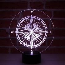 JNB-Maker Artisan Laseriste - Lampe Led Boussole - Lampe de table - 4668ampoule(s)