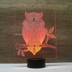 JNB-Maker Artisan Laseriste - Lampe Led Hibou - Lampe de table - 4668ampoule(s)