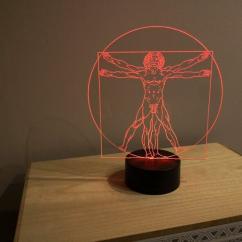 JNB-Maker Artisan Laseriste - Lampe Led Homme de Vitruve - Lampe de table - 4668ampoule(s)