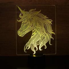 JNB-Maker Artisan Laseriste - Lampe Led Licorne - Lampe de table - 4668ampoule(s)