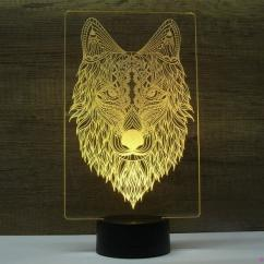 JNB-Maker Artisan Laseriste - Lampe Led Loup - Lampe de table - 4668ampoule(s)