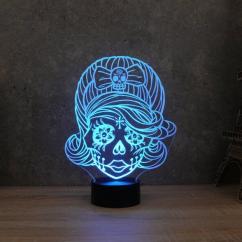 JNB-Maker Artisan Laseriste - Lampe Led Mexican Girl - Lampe de table - 4668ampoule(s)
