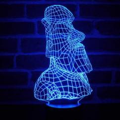 JNB-Maker Artisan Laseriste - Lampe Led Moaï 3D - Lampe de table - 4668ampoule(s)