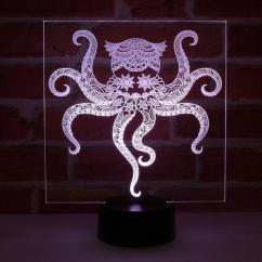 JNB-Maker Artisan Laseriste - Lampe Led Pieuvre - Lampe de table - 4668ampoule(s)