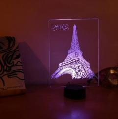 JNB-Maker Artisan Laseriste - Lampe Led Tour Eiffel Paris - Lampe de table - 4668ampoule(s)