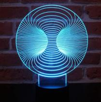 JNB-Maker Artisan Laseriste - Lampe Led Vortex 3D - Lampe de table - 4668ampoule(s)