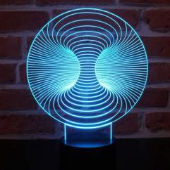 JNB-Maker Artisan Laseriste - Lampe Led Vortex 3D - Lampe de table - 4668ampoule(s)