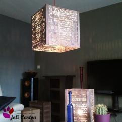 Joli Carton - Cagette - Duo (suspension + lampe) - Suspension - 1ampoule(s)