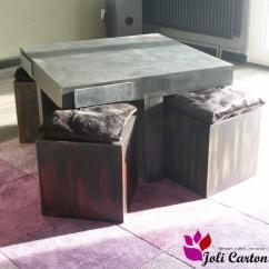 Joli Carton - Quadra - Table basse - Carton