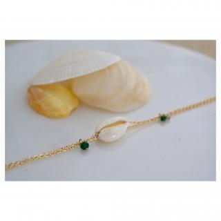 Joséphine Point Barre - - cauris - - Bracelet - Plaqué Or gold filled