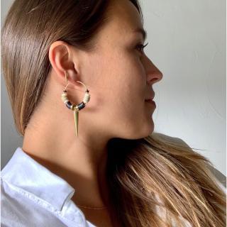 Joséphine Point Barre - - Imani - - Boucles d'oreille - Acier