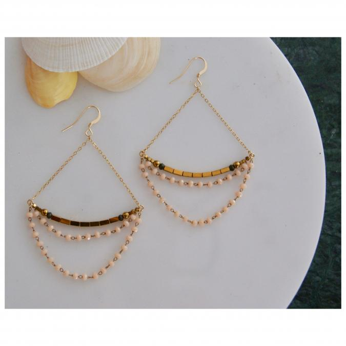 Joséphine Point Barre - - Teresa - - Boucles d'oreille - Or (gold filled)