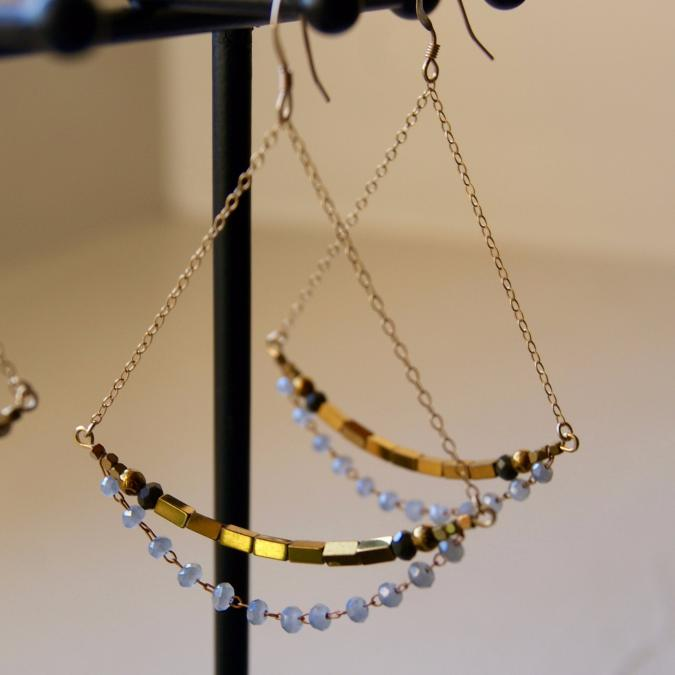 Joséphine Point Barre - - Teresa - - Boucles d'oreille - Or (gold filled)