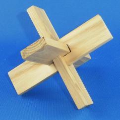 Joue du Bois - Casse tête croix du menuisier - jouet en bois