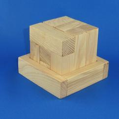 Joue du Bois - Casse tête cube en bois - jouet en bois