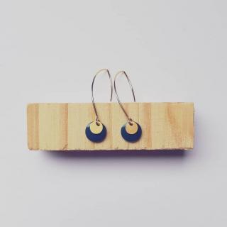 Judyte - Boucles MONA - Bleu - Boucles d'oreille - argent