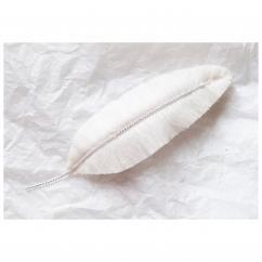 Jungle exquise - Barrette plume : Ibis immaculé - ___Bijoux de corps - Textile