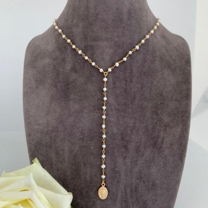Just-Barth - Just Rosary Pearls - Collier - Cuir
