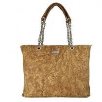 Karmyliege création - Grand sac à main en liège et chaine VALENTINA - Sac à main - Beige