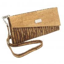 Karmyliege création - Pochette en liège beige avec bandoulière - Pochette (maroquinerie) - Beige