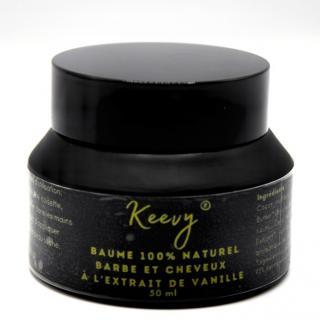 Keevy Cosmétiques - Baume Barbe & Cheveux à l'extrait de Vanille (50ml) - Cosmétiques