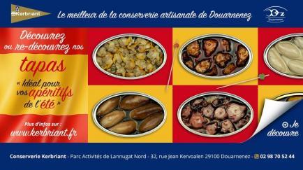 KERBRIANT - Dernière conserverie Artisanale et Familiale (4 personnes) de Produits de la Mer de Douarnenez