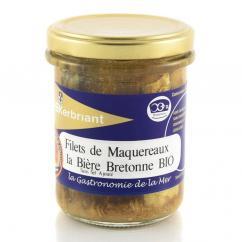 KERBRIANT - Filets de Maquereaux à la bière bretonne (sans sel ajouté) - Conserve et soupe de poisson