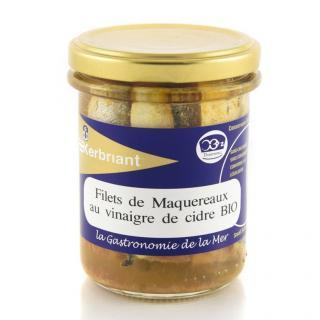 KERBRIANT - Filets de Maquereaux au Vinaigre de Cidre Bio - Conserve et soupe de poisson