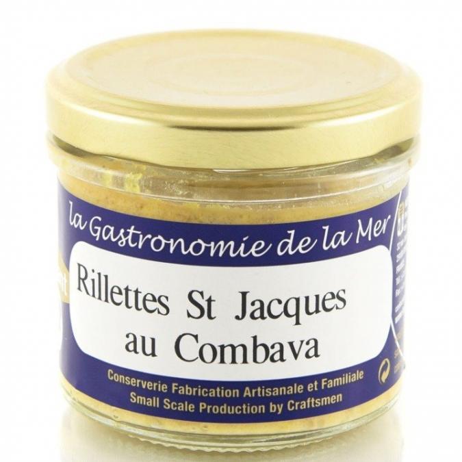 KERBRIANT - Rillettes de Saint Jacques au Combava 90g - Conserve et soupe de poisson
