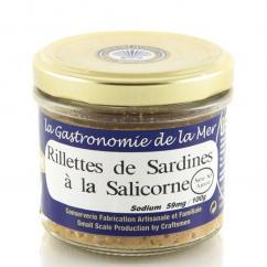 KERBRIANT - Rillettes de sardines à la Salicorne 90g (Sans Sel Ajouté) - Conserve et soupe de poisson