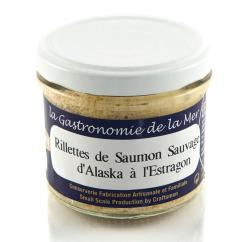 KERBRIANT - Rillettes de Saumon Sauvage d'Alaska à l'Estragon 90g - Conserve et soupe de poisson