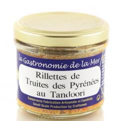 KERBRIANT - Rillettes de Truites des Pyrénées au Tandoori 90g - Rillette et tartinable de poisson