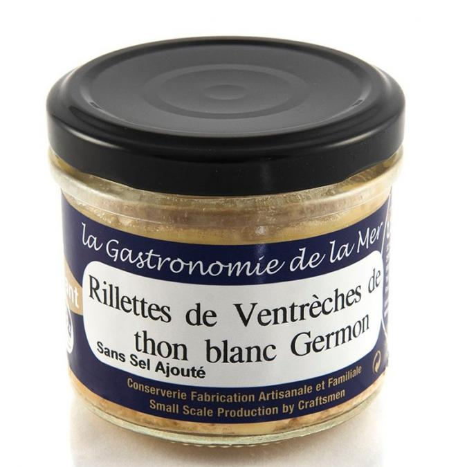 KERBRIANT - Rillettes de Ventrèches de thon blanc Germon 90g - Conserve et soupe de poisson