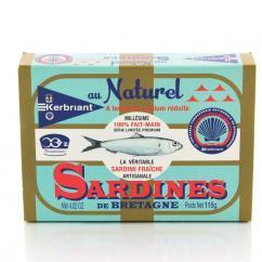 KERBRIANT - Sardines au naturel à teneur réduite en sodium - Conserve et soupe de poisson