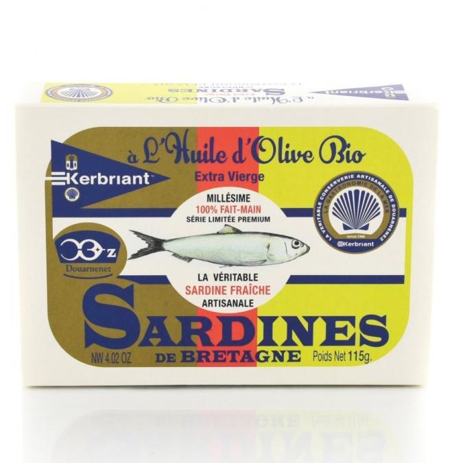 KERBRIANT - Sardines huile olive Bio - Conserve et soupe de poisson