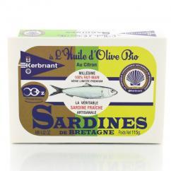 KERBRIANT - Sardines huile olive & citron Bio - Conserve et soupe de poisson