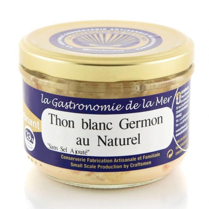 KERBRIANT - Thon blanc Germon au naturel (Sans Sel Ajouté) - Conserve et soupe de poisson